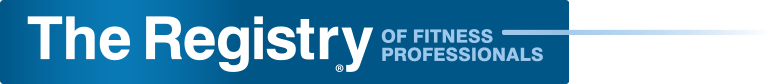 The Registry of Fitness Professionals logo